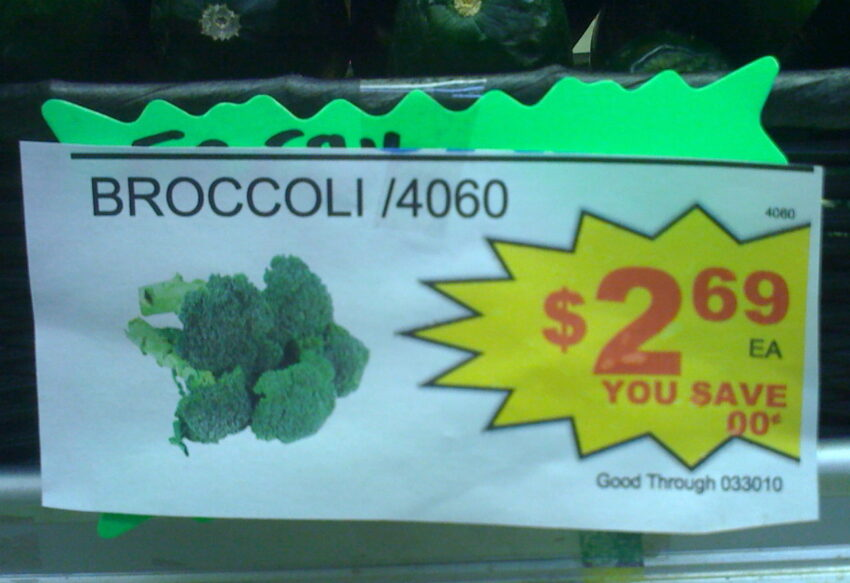 broccoli sign