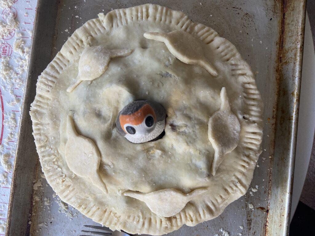 porg pie before baking