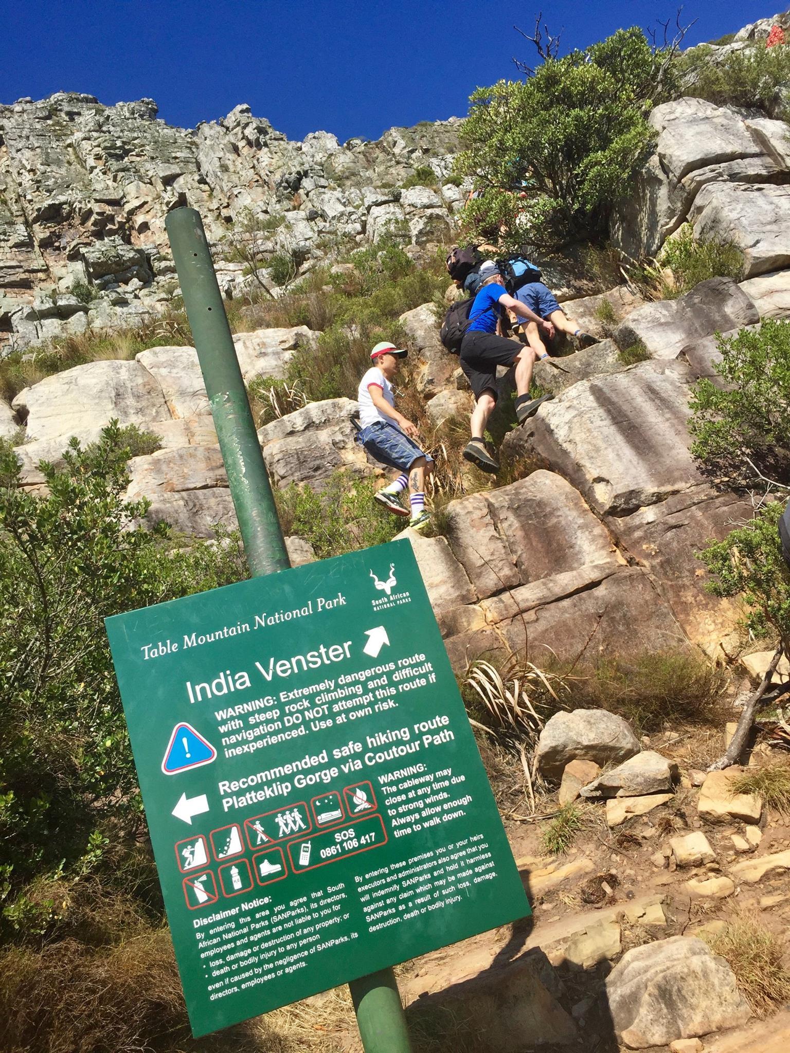 Rik climbing Table Mountain Cape Town SA