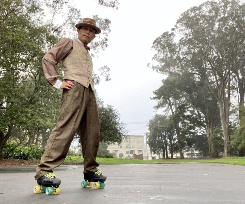 Jam skating in my vintage finery