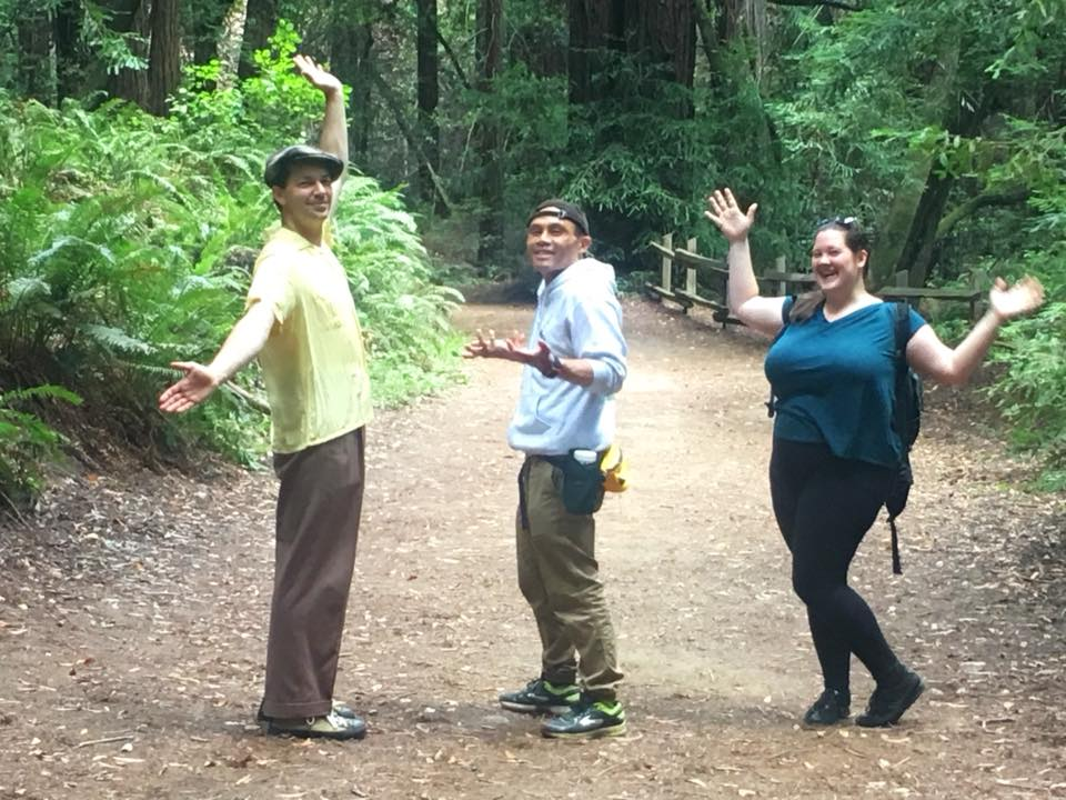 Hiking in the Berkeley hills with Kristin, Sam and Nina.